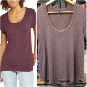 7 for All Mankind Scoop Neck Tee